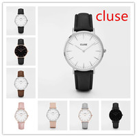 Wholesale Ladies Strapping Men - Famous Brand Replica Cluse Watches Leather Strap Luxury Watches for Men Minimalism Cluse Ladies Watches Free Shipping