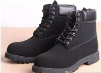 Wholesale winter boots for work - Fashion Mens 6 Eyelets 6-Inch Premium Ankle Boots Outdoor Work Hiking Shoes Winter Snow Boots for Men Multi Colors