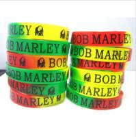 Wholesale Wholesaler Jamaica - Brand New 50PCs Bob Marley Rasta Jamaica Reggae Silicone Rubber Band Wristbands Bracelets wholesale lots