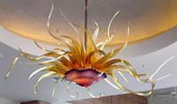 Wholesale new energy pendant resale online - New Style Murano Flower Design Glass Chandelier Living Room Lights Modern Hand Blown Glass Art Chandelier Light