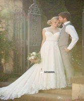 Wholesale Straight Strapless Wedding Dress - 2016 New Wedding Dress Tulle Strapless Sweetheart Straight Neckline Lace Empire Bow Beaded Mermaid Elegent Bridal Gown