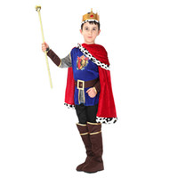 Wholesale Party Clothes For Boys - Halloween Cosplay Prince Costume for Children The King Costumes Boys kids Party Costumes Clothing LX3697
