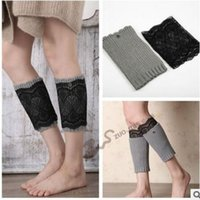 Femmes Hiver Chaîne en tricot Double Crochet Leg Warmers Leggings chauds Punk Rock Knee High Trim Boot Covers Lady Casual Boot Cuffs Leggings