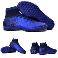 outdoor artificial turf - MERCURIAL SUPERFLY CR SG PRO fit adult children s Artificial turf high soccer shoes Natural Hard turf with CR7 Outdoor soccer shoes