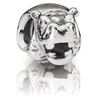 Wholesale Hippo Charms - Authentic 925 Sterling Silver Beads Charms Hippo Fits European Pandora Style Jewelry Bracelets & Necklace 790334