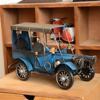 Wholesale Diecast Motorcycle Toy - Vintage Hunting Diecast Metal Classic Cars Model Alloy Toys Kids Toys Gifts Handwork High Quality Crafts Collection Home Decor