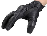 Wholesale New Motorcycle Riding Racing Bike Protective Armor Short Leather Gloves M L XL wm064F2