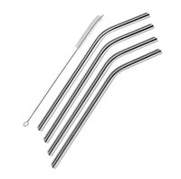 Wholesale Stainless Steel Straws Durable Reusable Metal inch Extra Long Bend Drinking Straws for OZ Yeti Tervis Tumbler Cups