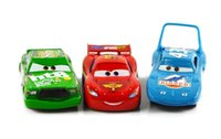 Купить Mcqueen Set-3шт / Set 100% первоначально Pixar Cars 2 Король / Chick Hicks / Mcque Diecast металла Дети Игрушка Молния МакКуин