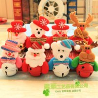 Wholesale reindeer bells - Doll Bell Christmas Tree Pendant Snowman Reindeer Santa Claus Small Bells Xmas Decor Multi Pattern Hot Sale 2qy F R