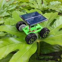 Wholesale Toy Car Bulk - free shipping whilesale lovely DIY solar toy car DIY solar car toy car bulk production of small hand-Textbook