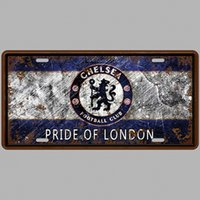 Wholesale Tin Plate Painting - Metal License Plate Soccer Vintage Home Decor Tin Sign Bar Pub Cafe Garage Decorative Metal Sign Art Painting Plaque