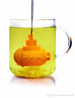 Wholesale Submarine Tea Infuser Wholesale - Cute New Design Yellow Submarine Tea Infuser Food Grade Silicone Loose Tea Strainer Herbal Spice Filter For Teapot Cup