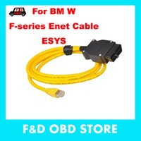 Wholesale Obd Connector Cable - 2016 ESYS Data Cable OBD Ethernet Code for bmw ICOM a2 Interfac OBD2 for bmw ESI Enet Cable E-SYS ICOM Coding Diagnostic Cable
