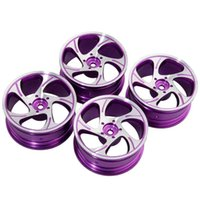 Wholesale Rc Car Rims Drift - RC Rim 131 Purple Aluminum Wheel 52mm For HSP Sakura HPI 1:10 On-Road Drift Car