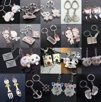 ingrosso valori catena-Bestia regalo unisex Creativo portachiavi valore metallo coppia portachiavi piccolo regalo R099 Arti e Mestieri mescolare l'ordine