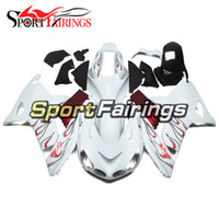 Wholesale Kawasaki Ninja White Red - White Red Motorcycle Fairings For Kawasaki ZX14R ZX-14R ZZR1400 Year 06 07 08 09 10 11 2006 - 2011 ABS Injection Fairing Kit Covers Bodywork