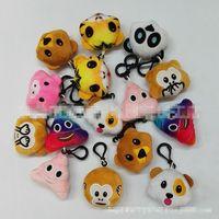 macaco jogos venda por atacado-5.5 cm expressão Emoji Boneca de Pelúcia Chaveiro EMS 10 estilo QQ Expression Stuffed macaco animal chaveiro Plush Doll Toys B