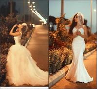 Wholesale High End Wedding Gowns - 2016 Vestido De Novia Said Mhamad Wedding Dresses Sweetheart with Remove Train Glamorous Bridal Gowns Custom Arabic Dubai High End Dress