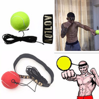 Wholesale Speed Builds - MAYITR Boxing Ball Equipment Fight Boxeo With Head Band For Reflex Speed Muay Thai Training Exercise Boxing Punch Body Building