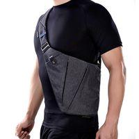 Wholesale Crossbody Bag For Males - NewBring Summer Black Single Shoulder Bags for Men Waterproof Nylon Crossbody bags Male Messenger Bag