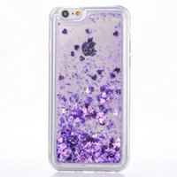 Wholesale Move Skin - For Iphone SE 5 5S 6S 6 Plus 4.7 5.5 I6S Glitter Star Quicksand Liquid Soft TPU Case 3D Colorful Moving Shining Flow Love Clear skin Luxury