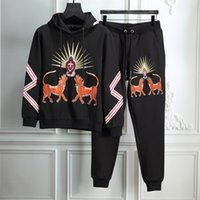 Wholesale Skull Long Sleeve Knit Sweater - 2017new winter Fashion guchi Men Casual Sports skulls Suit Men's Tracksuits Man Sweater and long the men suit