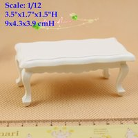 Wholesale Furniture Coffee Tables - 1:12 Scale Dollhouse Miniature Coffee Table Living Room Decor Accessory Doll House Furniture White Table Room Decor  QQ_dollhouse Toy Gift A