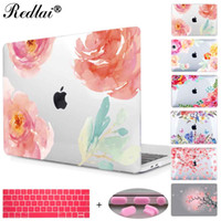Floral Crystal Clear Print Hard Case für Macbook Pro 13 15 2016 Touch Bar Laptop Tasche Air Pro Retina 12 13 15 mit Tastaturabdeckung