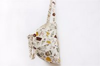Wholesale Wholesale Fabric Totes - 2016 New Cartoon Printed Cotton Linen Fabric Cloth Women Tote Handbag Ladies Bag Single Shoulder Bag Shopping Bag