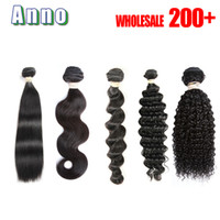 Wholesale Queen Deep Wave - 7A Virgin Hair Body Wave Straight Loose Deep Curly 100g pc Unprocessed Human Hair Weaves Bundles Body Wave Hair Queen Love