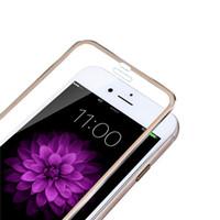 marco iphone 6plus al por mayor-Protector de pantalla Cristal templado Cobertura total 3D Marco metálico de 9H Borde curvado para iPhone Xs Max Xr X 8 plus / 7 / 7plus / 6 / 6s / 6plus Film