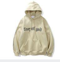 hoodie do rato venda por atacado-Sponge camundongos inverno hiphop hoodie Justin bieber Névoa medo de deus carta impressão Sandcastle Reis manga longa velo homens hoodies