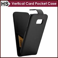Wholesale Vertical Flip Wallet Case - Vertical PU Wallet Leather Case For Samsung S7 Edge S6 S5 NOTE 3 iPhone 6 6S Plus With Card Pocket Phone Flip Cover