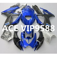 Wholesale K6 Kit - 3 gifts Motorcycle Fairing kit for SUZUKI GSXR600 750 K6 06 07 GSXR 600 GSXR750 2006 2007 Motorcycle Fairings set ABS Blue nw20
