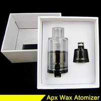 Wholesale Cartomizer Metal - APX Wax Atomizer Tank Triple Coils Wax Quartz Atomizer Wax Vaporizer Cartomizer VS Dry Herb Atomizer D-Core Tank