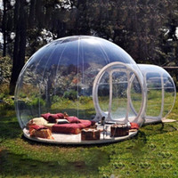 Wholesale Bubbles Show - Wholesale- PVC Transparent Viewing Inflatable Outdoor Camping Tent Clear Single Tunnel Bubble House Camping Tent For Trade Show Into nature