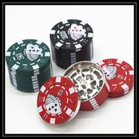Wholesale Chip Grinder - 2016 Newest Mini Metal Poker Chip Grinders 40mm 3 Part Layers Jetton Box Shaped Herbal Grinders For Smoking Tool Device DHL Free