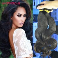 Wholesale Good Wavy Hair Weave - Glamorous Good Quality Virgin Malaysian Human Hair 3 Bundles Wavy Hair Extensions Raw Unprocessed Brazilian Indian Peruvian Remy Hair Weaves