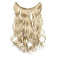 Wholesale Ash Blonde Hair Extensions - Wholesale-Ms.Fashion Curly wavy Hide Wire Flip in Hair Extensions Synthetic Women's Hair 80g 18inch Ash Blonde Mixed With Bleach Blonde