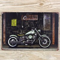 Wholesale x30 cm HIGH quality NEW Motorcycle tin painting Metal Plaque Vintage Bar Iron painting Retro House Cafe Tin Signs Decor