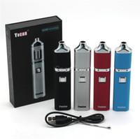 einstellbare dampfbatterie großhandel-Authentische Yocan Pandon QUAD Wax Pen Vaporizer Kits E Zigarette Kits 1300 mAh Batterie 4 Spulen Riesige Dampf Spannung Einstellbar 100% Original