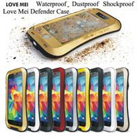 ingrosso iphone più amore mei-Custodia antiurto AMORE MEI resistente all'acqua Custodia protettiva in metallo per Iphone 7plus / 6 Plus 5.5 inch 6p