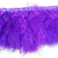 zierfedern lila großhandel-2 Yards / pcs Purpurrote Marabou-Feder, die viele Farben Feder-Fransen Marabou-Federn-Band-Ordnungs-Fransen