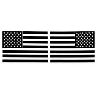 Wholesale Mirror Flags - 1 Pair 6 Inch Car Sticker Black American Flag Mirrored Reverse Vinyl Car Decals 15.5CM*10.5CM