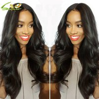 Wholesale wonderful colors online - New a Grade Wonderful Wavy Body Wave Lace Wig Full Lace Brazilian Virgin Human Hair Full Lace Wigs Body Wave Glueless Lace Cap