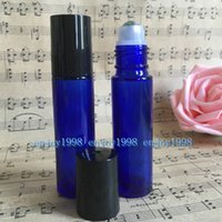 Wholesale cobalt glass for essential oils resale online - Popular Sale Cobalt Blue Glass Roller Bottles ml With Stainless Steel Roller Ball for Essential Oil Thick CC Bottles for Eye Care
