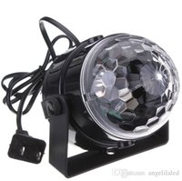 Wholesale Mini RGB LED Crystal Magic Ball Stage Effect Lighting Lamp Party Disco Club DJ Bar KTV Light Show V