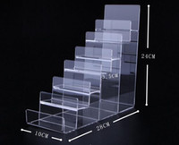 2pcs Hot promotion 7 layers reinforced Acrylic Wallet Display Stand Purse Holder Nail polish cosmetics jewelry shelf phone display rack