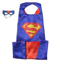 Wholesale Wholesale Adult Super Hero Masks - L140*W90 CM Adult Superhero Capes with masks - Bat man Adult capes with masks Great for Halloween Christmas Costumes on Play date